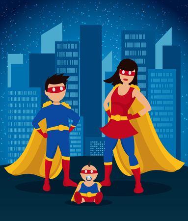 Comic Colorful Children Superheroes Template