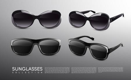 スタイリッシュな現実的なサングラス コレクション