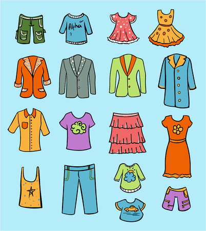 Doodle Colored Family Clothing Set