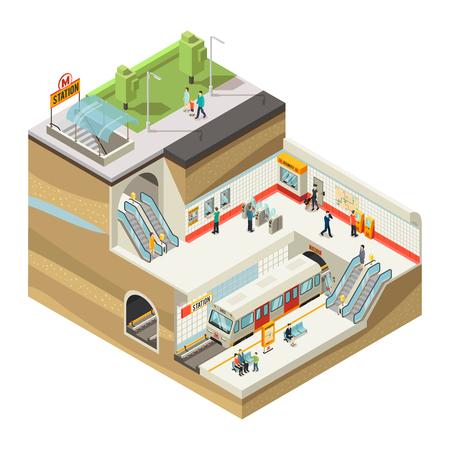 Isometric Underground Station Concept