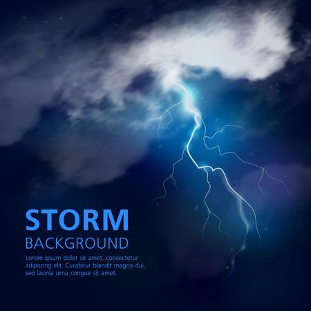 Nacht Sturm Hintergrund Standard-Bild - 80762952