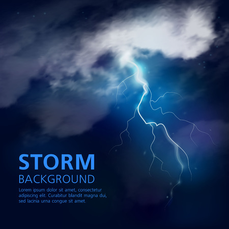 Night Storm Background