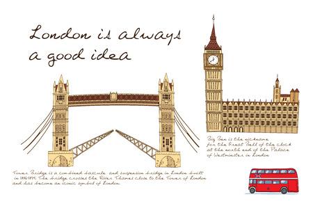 런던 라인 포스터 일러스트