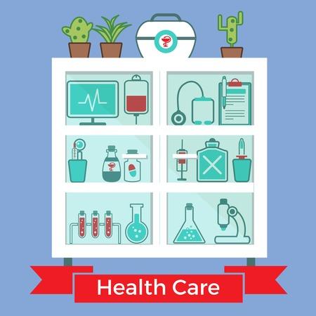 Medical Decorative Icons Set