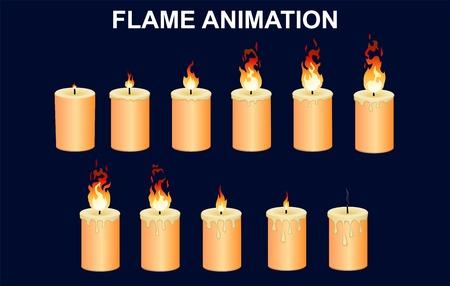 Burning Candles Set Stock Vector - 80951539