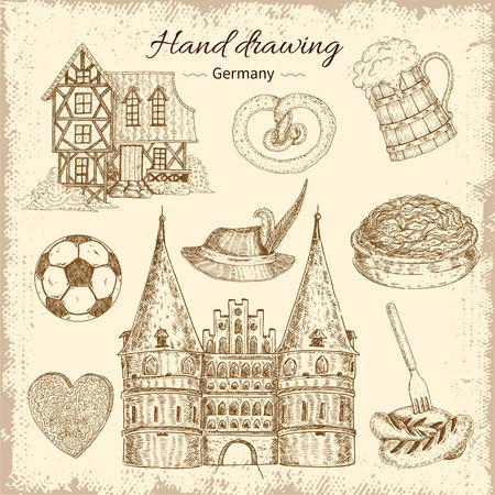 Drawn Germany Icon Set