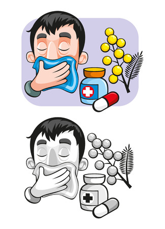 produits céréaliers: Modèle d'allergie aux dessins animés