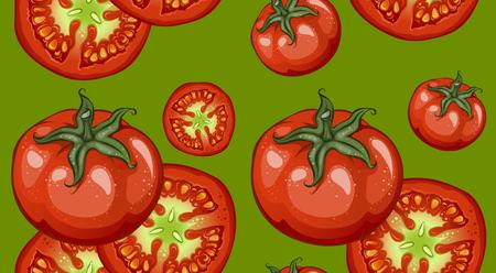 Colorful Drawing Vegetables Pattern Ilustração