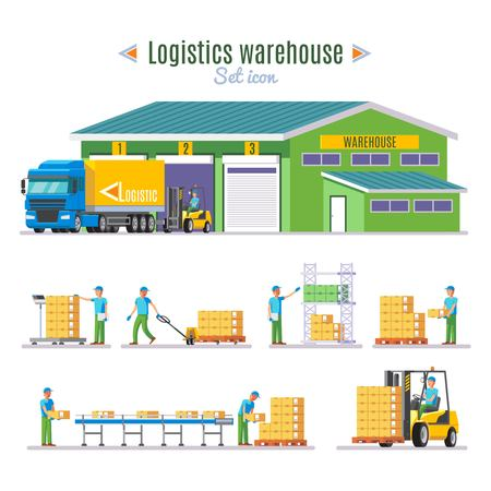 Logistic Warehouse Elements Collection