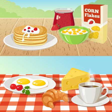 야외 개념을 아침 식사.
