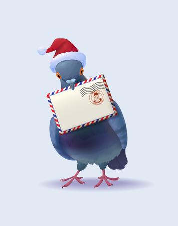 Christmas Santa Claus post pigeon.