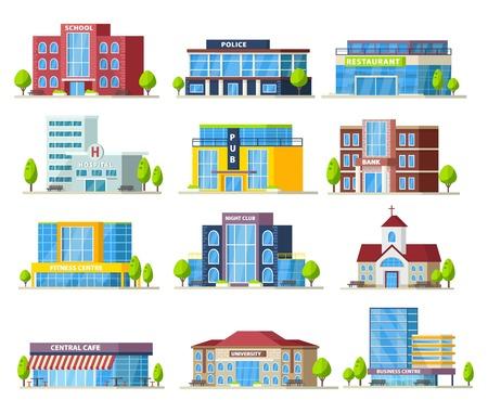 Bunte städtische Gebäude-Sammlung Standard-Bild - 81918145