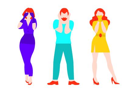 Concept plat de trois personnes Banque d'images - 81918147