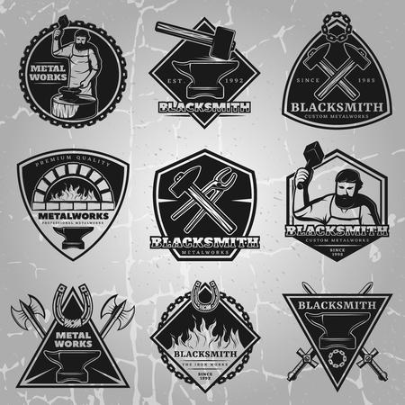 Premium smeden emblemen Set