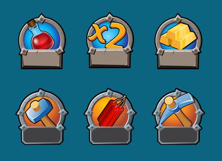 dinamita: Cartoon Game Buttons Collection