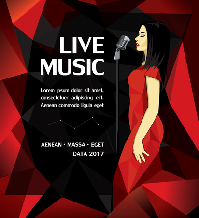 Promotional Musical Performance Poster Illustration