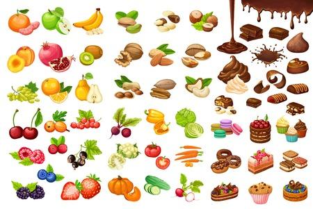 カラフルな甘いと有機食品セット