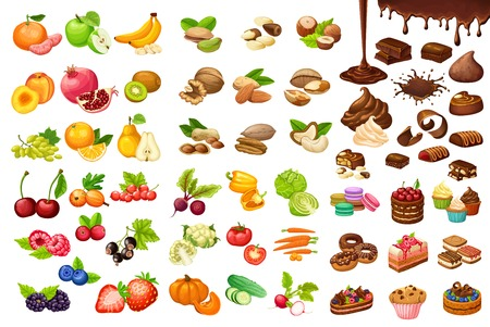 Colorful Sweet And Organic Food Set
