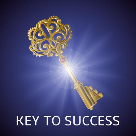 Key To Success Background Illustration