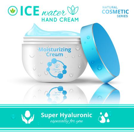 Hand Cream Cosmetics Concept Illustration