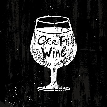 Dibujo de artesanía de vino Concepto Foto de archivo - 82421229