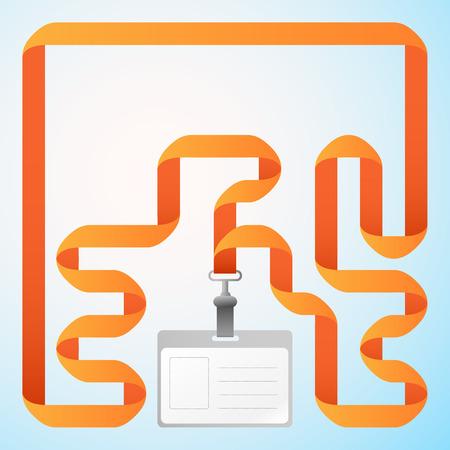 A Vector Identification Card illustration. Ilustrace
