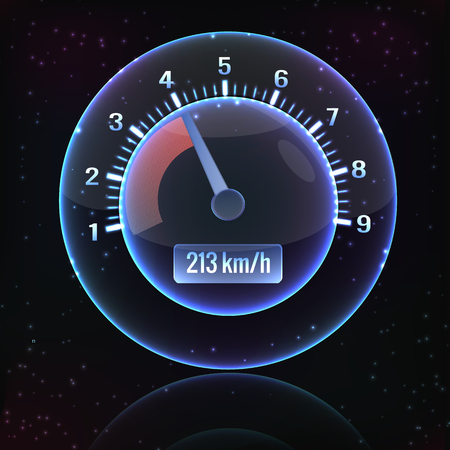 Speedometer Interface Background Ilustrace