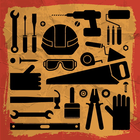 Industrial Equipment Background Ilustrace