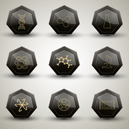 pain scale: Chemistry icons set