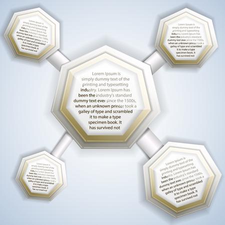 Molecule Infographics Vorlage Standard-Bild - 82695506