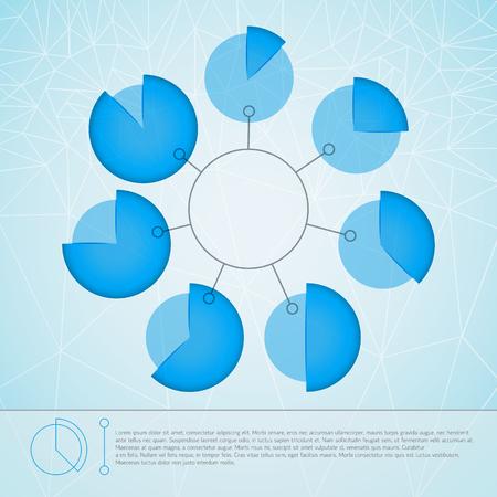 Round Business Diagram Template Illustration