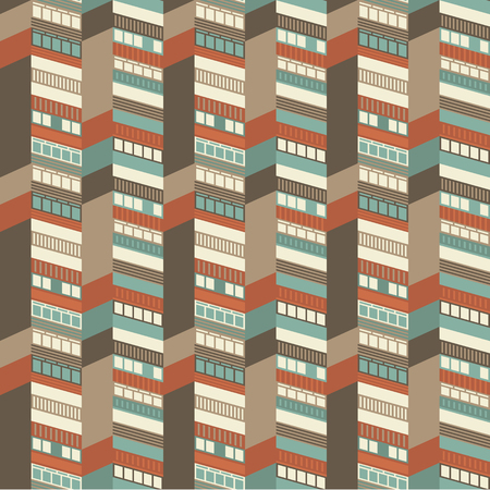 Architectural Seamless Pattern Illustration