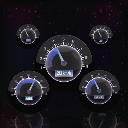 Glow Speedometer Interface