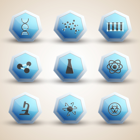 Science Icons Set Illustration