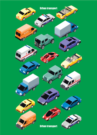 jeep: Isometric City Transport Collection