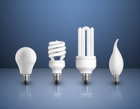 Collection d'ampoules modernes réaliste
