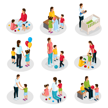 Isometric Nanny Work Set