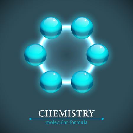 Molecule Isolated On Dark Backgroun