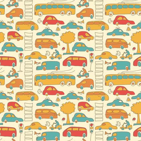 Naadloos vervoer gekleurd patroon