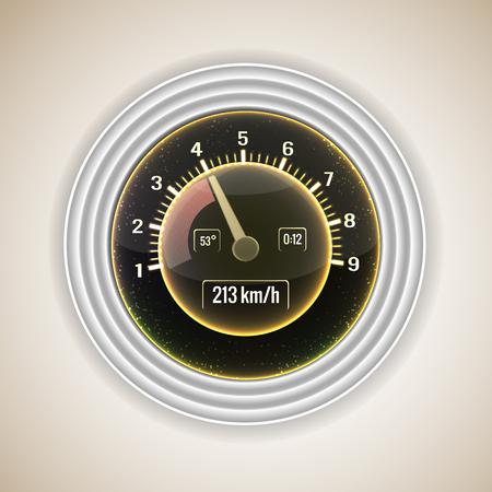 Realistic Speedometer Interface Background 向量圖像