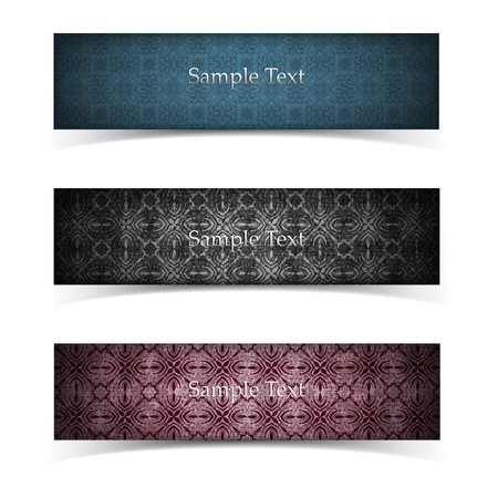 Grunge Banner Set Illustration
