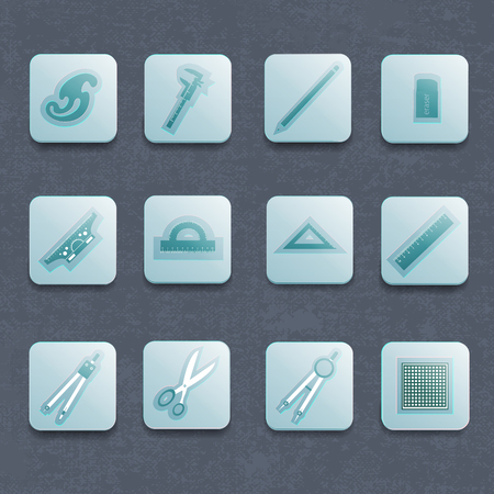 Industriële architect Vector Icon Set