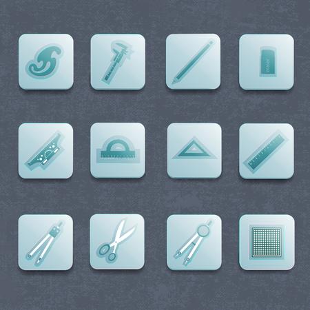 Industriële architect Vector Icon Set