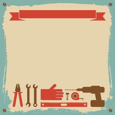 修理の労働者の背景