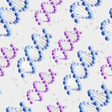 Sience DNA pattern. Vector Illustration