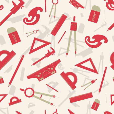 빨간색 건축 원활한 패턴 일러스트