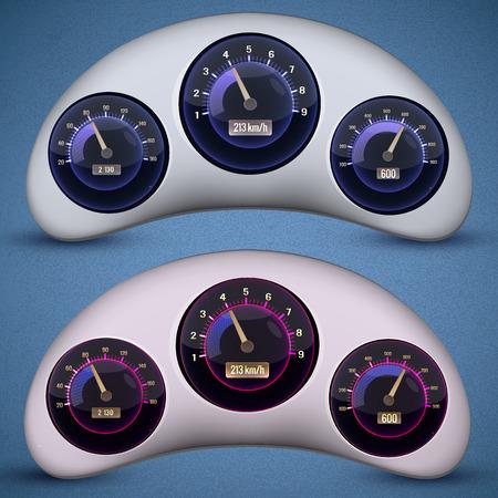 Speedometer Interface Icon Set