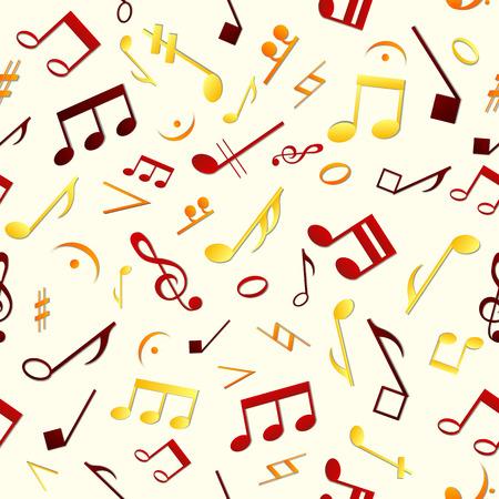 Kleurrijk Muziek Naadloos Patroon Stock Illustratie