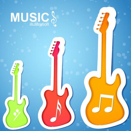 Musique colorée fond Banque d'images - 82949603