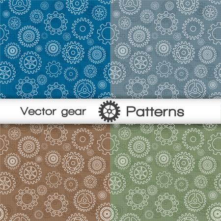 Vector naadloos patroon dat met toestellen vectorillustratie wordt geplaatst